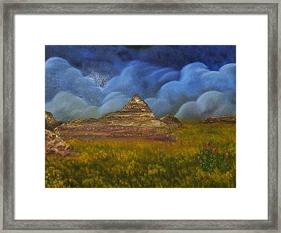 Framed Print featuring the painting The Mighty And The Tiny by The GYPSY And DEBBIE