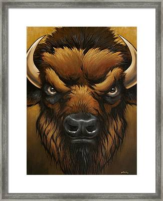 The Mighty Bison Framed Print