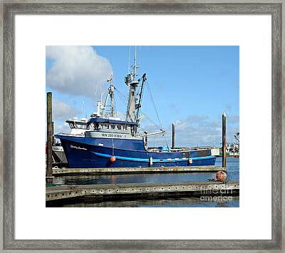 The Mighty Blue Framed Print by Chalet Roome-Rigdon
