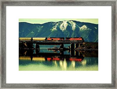 The Mighty Burlington Northern Framed Print by Benjamin Yeager