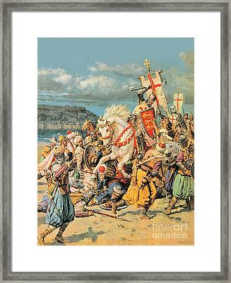 The Mighty King Of Chivalry Richard The Lionheart Framed Print