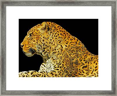 The Mighty Panthera Pardus Framed Print by Emmy Marie Vickers