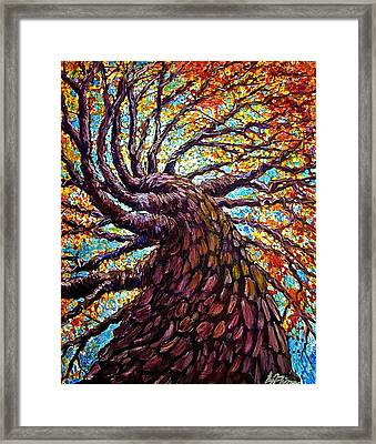 The Mighty Tree Framed Print by Sebastian Pierre