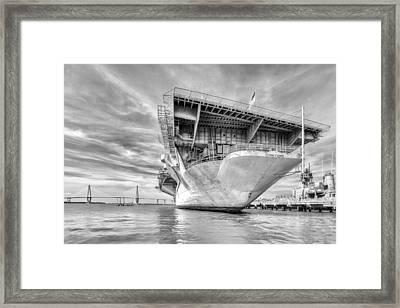 The Mighty Yorktown Framed Print by Walt  Baker
