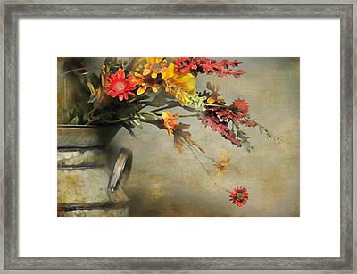 The Milk Can Framed Print by Diana Angstadt