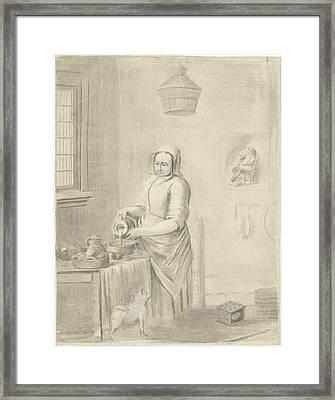 The Milkmaid, Jurriaan Cootwijck, Johannes Vermeer Framed Print by Jurriaan Cootwijck And Johannes Vermeer