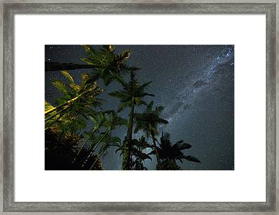The Milky Way Above The Atlantic Framed Print