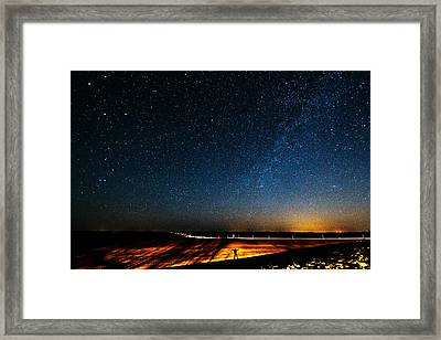 The Milky Way And My Shadow Framed Print