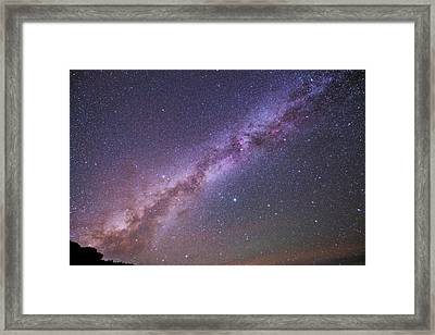 The Milky Way And Summer Triangle Framed Print by Babak Tafreshi