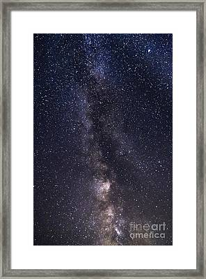 The Milky Way From Phippsburg Maine Usa Framed Print