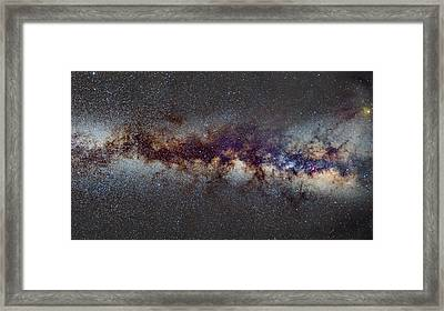 The Milky Way From Scorpio Antares And Sagitarius To Scutum And Cygnus Framed Print