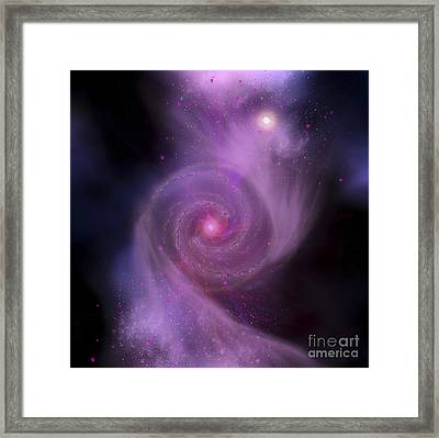The Milky Way Galaxy And Andromeda Framed Print