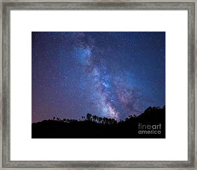 The Milky Way Over The Mountain Framed Print