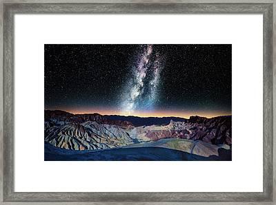The Milky Way Over Zabriskie Point Framed Print by Matt Anderson Photography