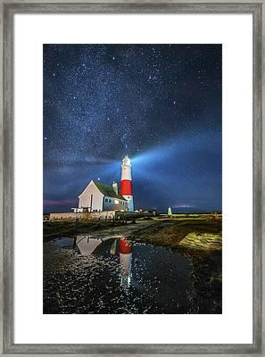 The Milkyway Lighthouse Framed Print