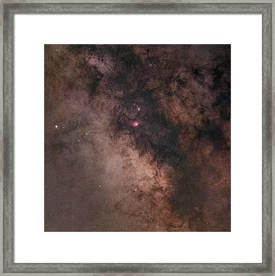 Summer Night Sky Framed Print by Dennis Bucklin