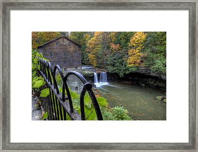 The Mill And Falls At Mill Creek Park Framed Print