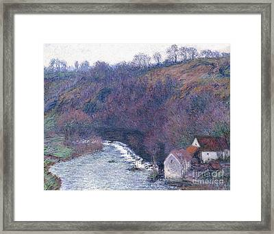 The Mill At Vervy Framed Print by Claude Monet