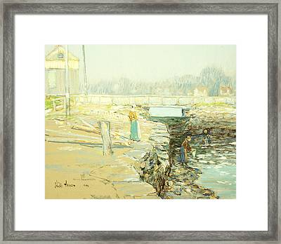 The Mill Dam Cos Cob Framed Print