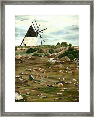 The Mill Framed Print by Angeles M Pomata