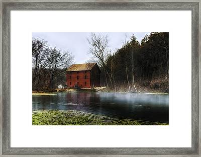 The Mill Pond Framed Print by Ron  McGinnis