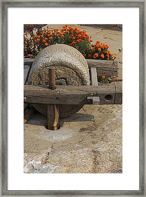 The Mill Stone Framed Print