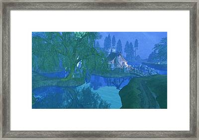 The Mill Stream Framed Print by Amanda Holmes Tzafrir