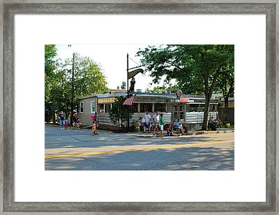 The Millbrook Diner Framed Print by Kurt Von Dietsch