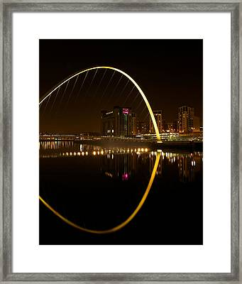 The Millenium Bridge At Night Framed Print by Stephen Taylor