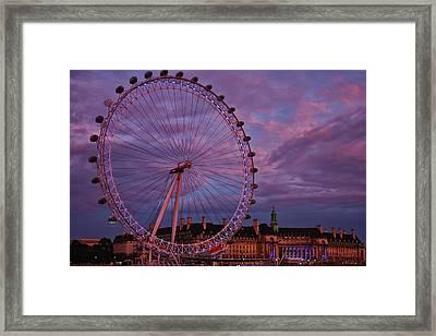 The Millennium Wheel Framed Print