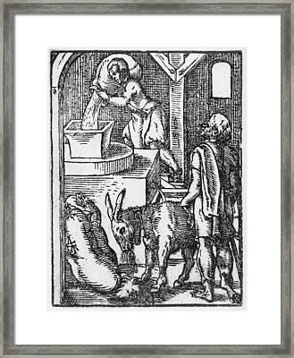 The Miller  Framed Print by Jost Amman