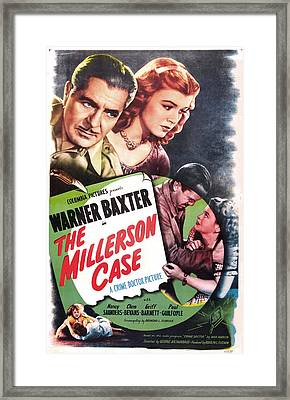 The Millerson Case, Us Poster, Top Framed Print by Everett