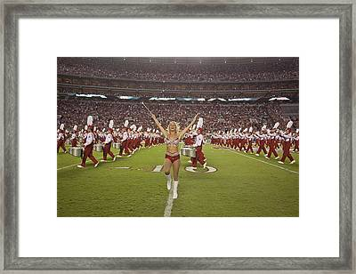 The Million Dollar Marching Band Of The University Of Alabama Framed Print