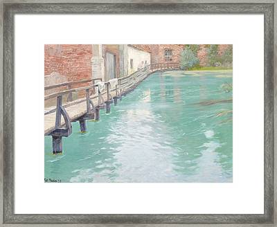 The Mills At Montreuil Sur Mer Normandy Framed Print by Fritz Thaulow