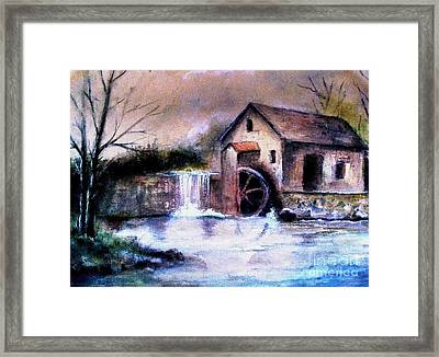 Framed Print featuring the painting The Millstream by Hazel Holland