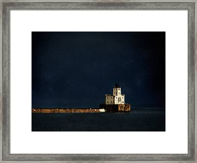 The Milwaukee Breakwater Lighthouse Framed Print