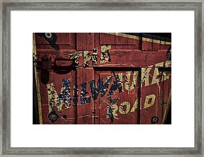The Milwaukee Road Railroad Framed Print by Daniel Hagerman