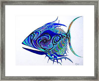 The Mind Aquarium Framed Print by Nathan Newman