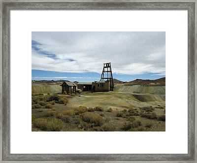 Framed Print featuring the photograph The Mine by Marilyn Diaz