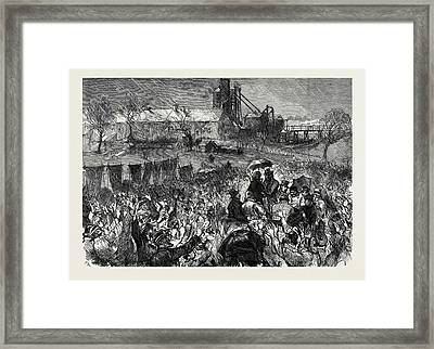 The Miners Strike In Durham Great Mass Meeting At Twizell Framed Print