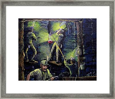 The Miners Way Framed Print