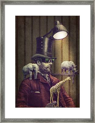 The Miniature Menagerie Framed Print by Eric Fan