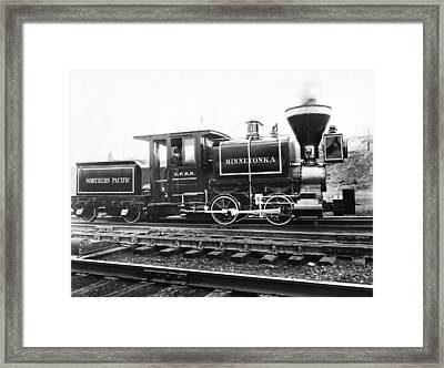 The Minnetonka Locomotive Framed Print by Underwood Archives