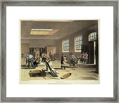 The Mint Workers Making Coins Framed Print