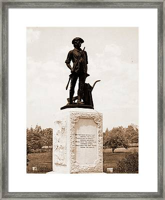 The Minute Man, Concord, Monuments & Memorials, Minutemen Framed Print