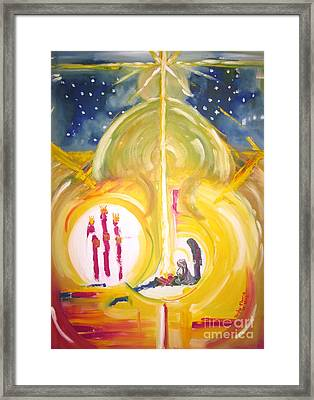 Framed Print featuring the painting The Miracle by Judy Morris