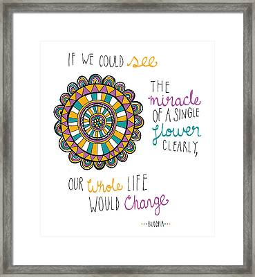 The Miracle Of A Flower Framed Print by Susan Claire