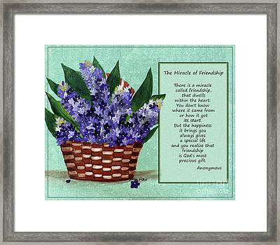The Miracle Of Friendship Framed Print