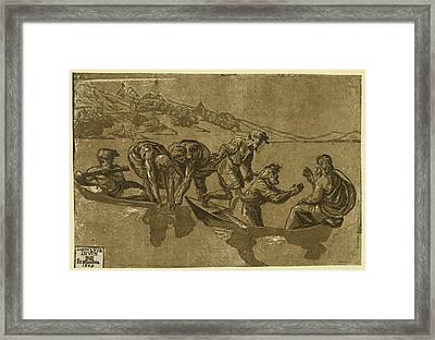 The Miraculous Draught Of Fishes, Between 1500 And 1530 Framed Print