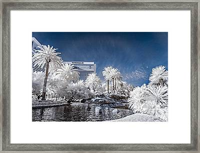 The Mirage In Infrared 1 Framed Print